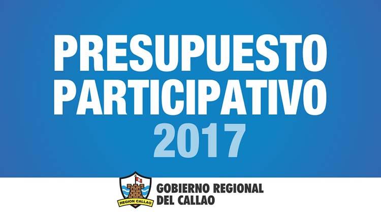 Convocatoria al Proceso del Presupuesto Participativo 2017