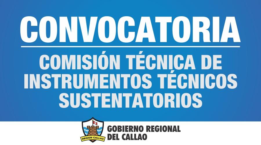 Convocatoria Comisi�n Tecnica de Instrumentos Tecnicos Sustentatorios
