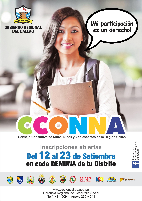 Consejo Consultivo de niñas, niños y adolescentes - CCONNA callao