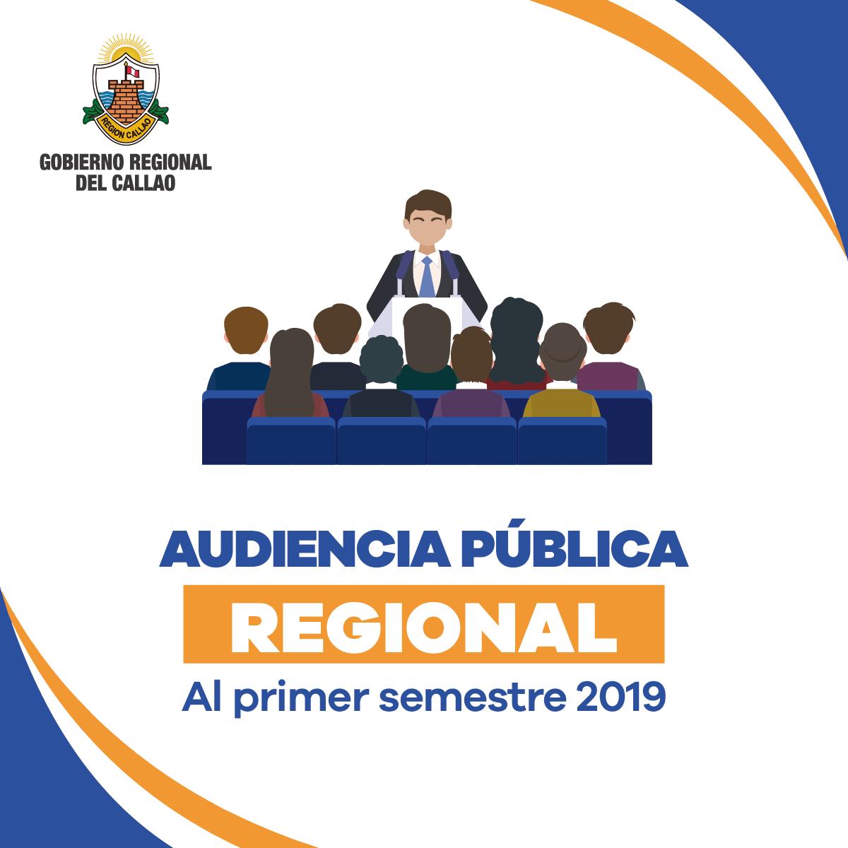 AUDIENCIA PÚBLICA REGIONAL AL PRIMER SEMESTRE 2019