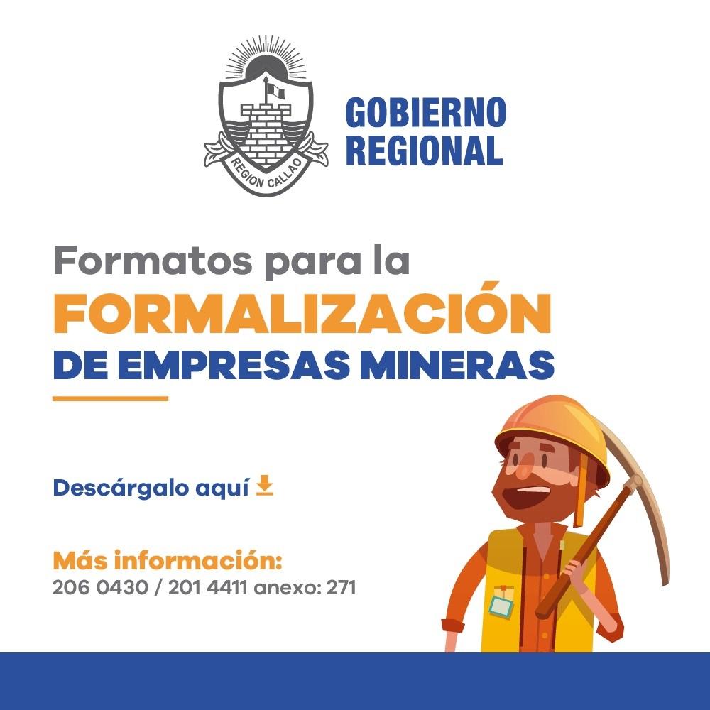 Formatos para la Formalización de Empresas Mineras