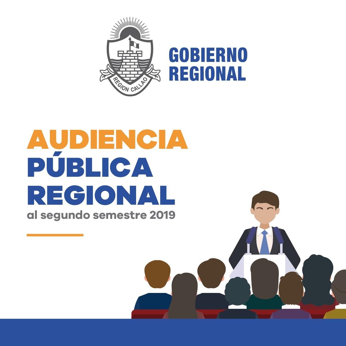 AUDIENCIA PÚBLICA REGIONAL AL SEGUNDO SEMESTRE 2019