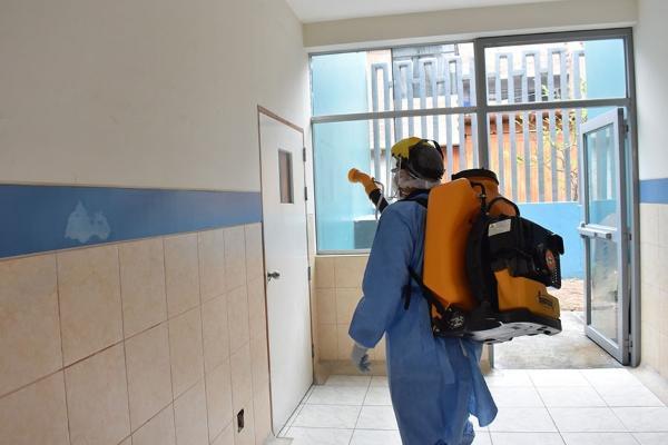 DIRESA DEL CALLAO REALIZA DESINFECCIÓN DE LOS ESTABLECIMIENTOS DE SALUD DEL PRIMER PUERTO.