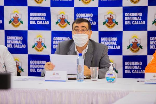 GOBERNADOR REGIONAL DEL CALLAO DETALLA ACCIONES TOMADAS CONTRA LA COVID-19 Y ATENCIÓN A POBLACIÓN AFECTADA.
