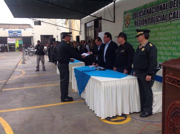 GOBIERNO REGIONAL ENTREG� INCENTIVO ECON�MICO A EFECTIVOS DE LA POLIC�A NACIONAL EN EL CALLAO